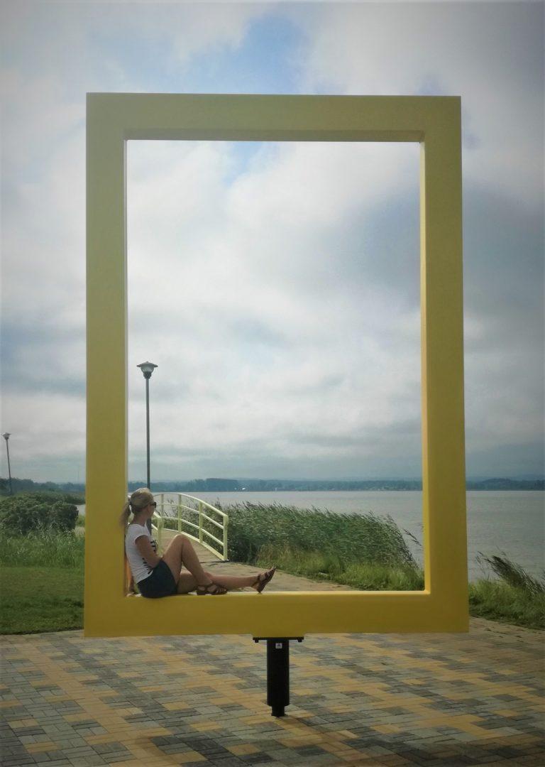 Yellow window near Tamula lake in Võru city
