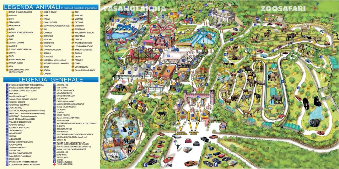 Fasanolandia - Map of the whole park