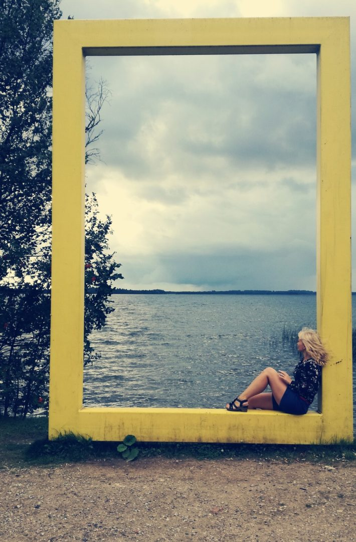 Lake Saadjärv - National geographic yellow window frame