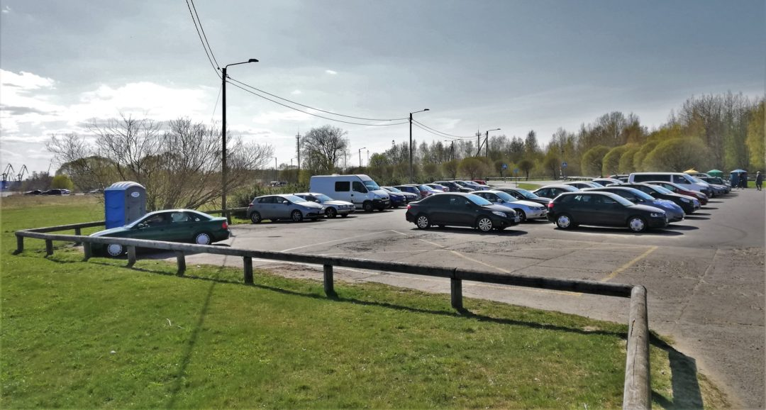 Pikakari beach - Parking lot