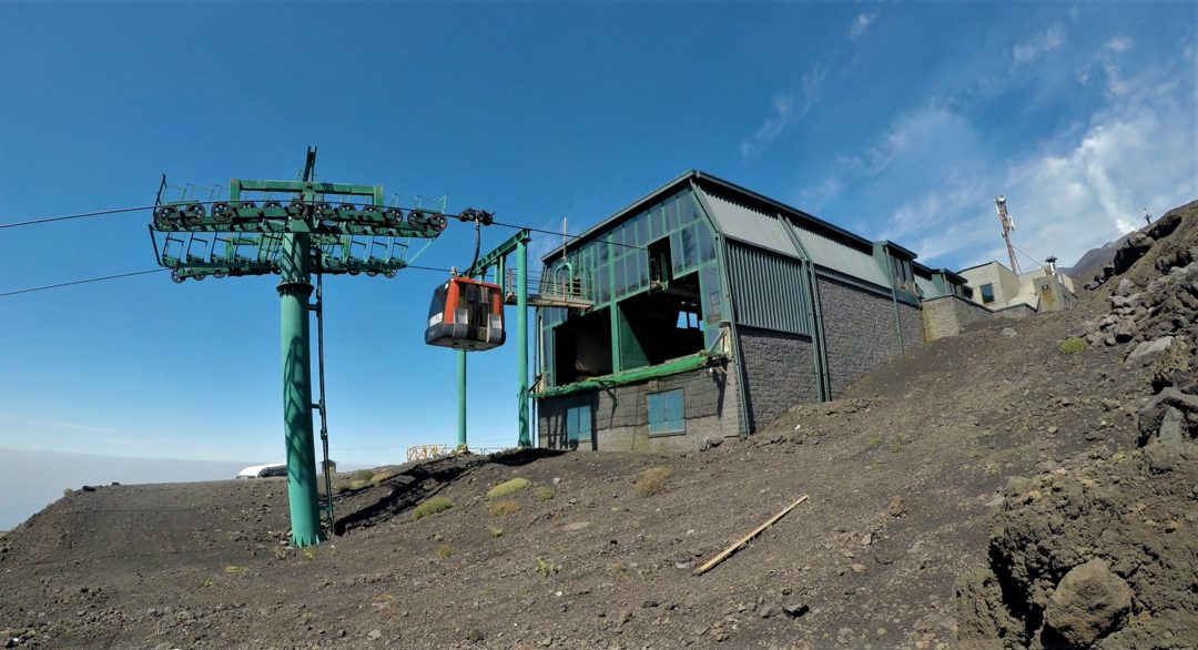 Cable car (funiva) upper station at 2500 meters