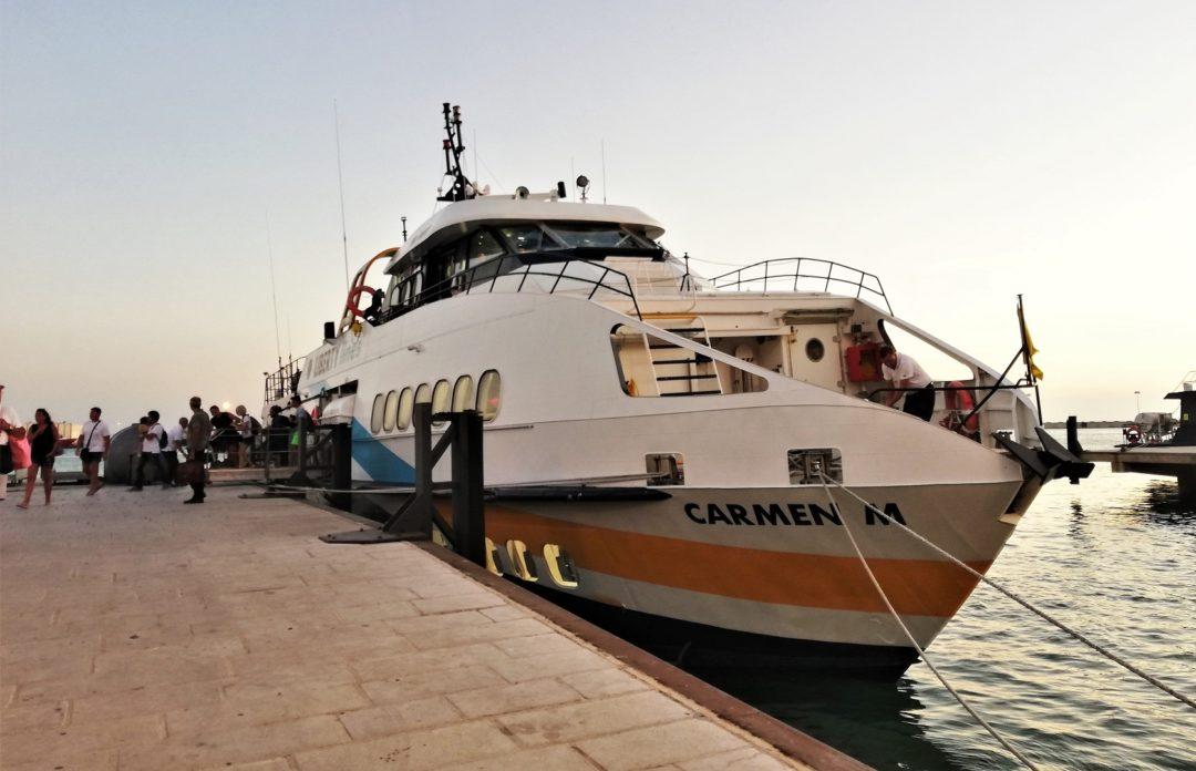 Liberty Lines hydrofoil (Carmen M) from Favignana to Trapani
