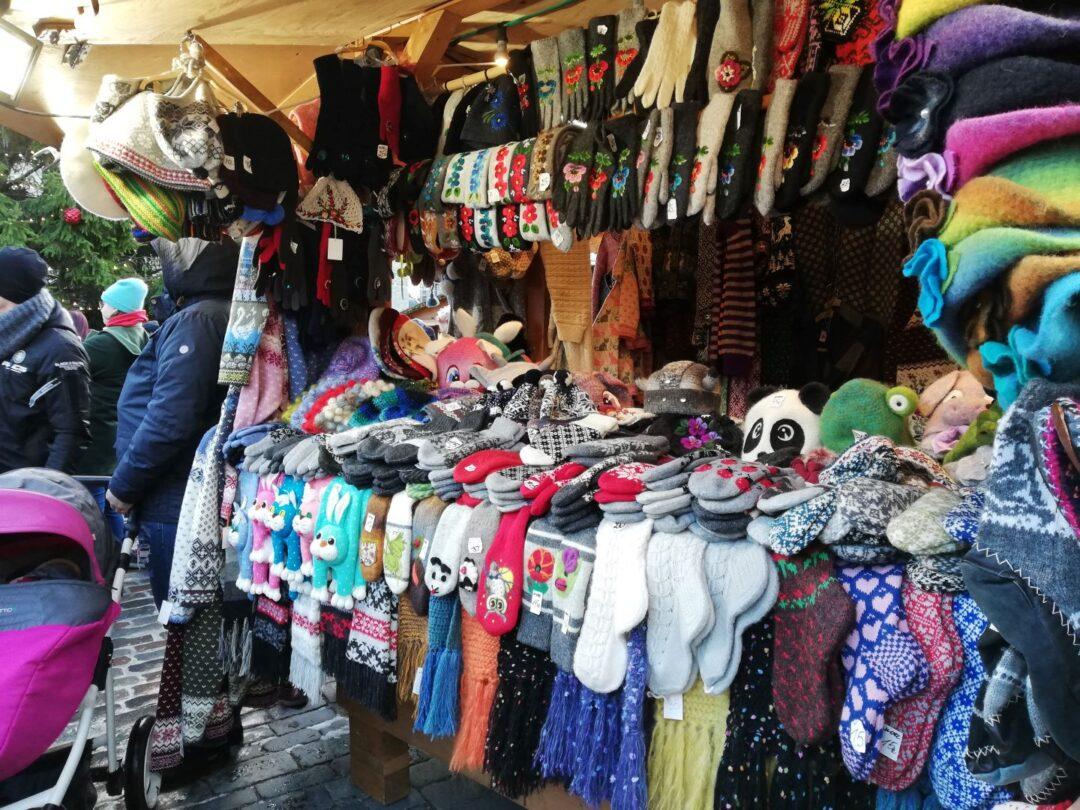 wool socks at Tallinn Christmas Market